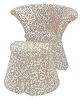 Flower cod. 66 pouf, Pouf avec structure en polymère, recouvert de tissu