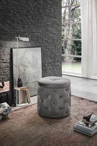 PUPO PF602, Table Pouf - chevet avec récipient idéal pour usage résidentiel