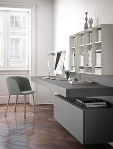 Ala bureau, Suspendu bureau, en placage ou en bois laqué
