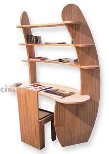 Bureau Avvolgente, Bureau en bois avec étagères