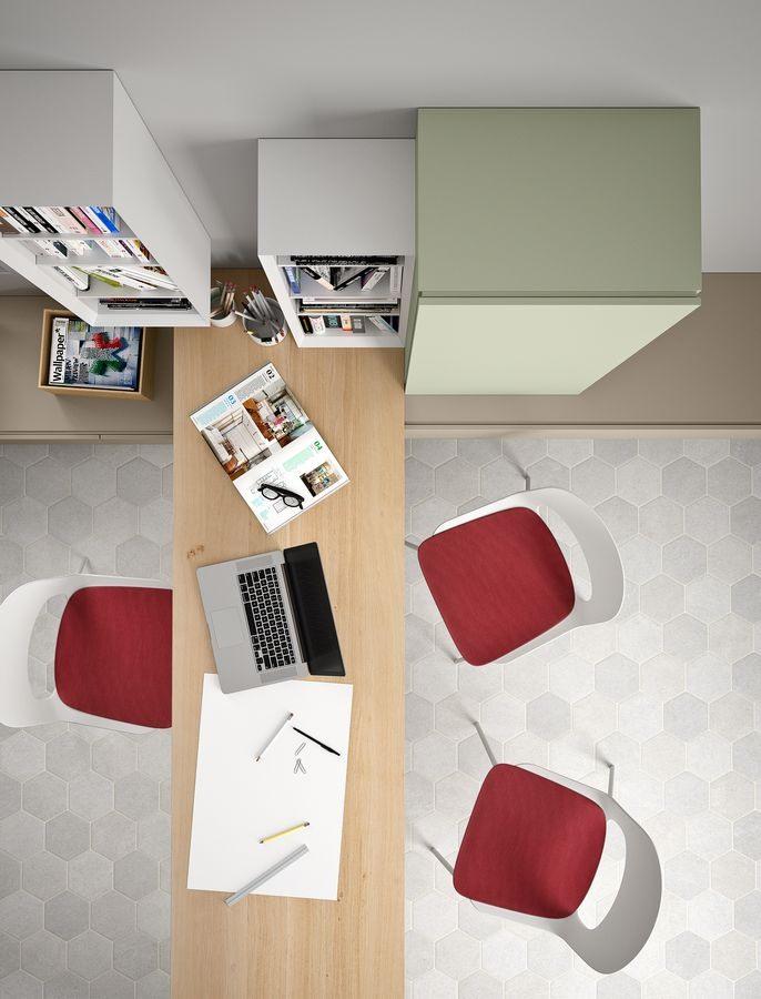Domino bureau, Bureau Eooden, avec une largeur de taille personnalisée