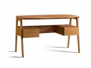 Eugenio 5080, Bureau en bois avec plateau octogonal