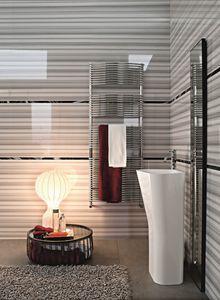 Bath incurvé, Radiateur chromé pour salles de bains