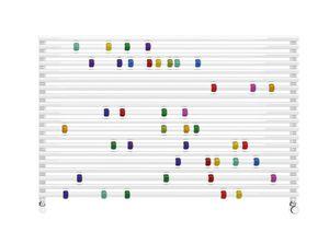Pallottoliere, Abacus en forme de radiateur, pour les écoles maternelles et