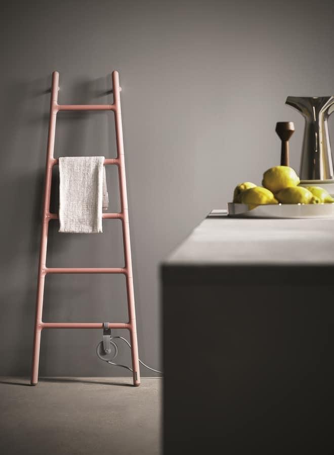 Scaletta, Escaliers radiateur de forme, avec alimentation électrique