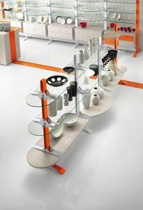 Contemporary - gondole d'exposition pour les magasins d'alimentation, Gondole autoportante pour les magasins