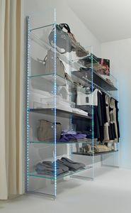 Glassystem COM/GS10, Étagère en verre avec éclairage LED