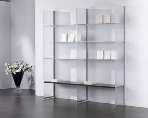 Glassystem comp.13, Composition de verre, bibliothèque, vitrine, maison et boutique