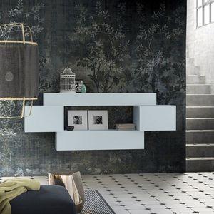 People P206, étagère modulaire en bois, avec des armoires