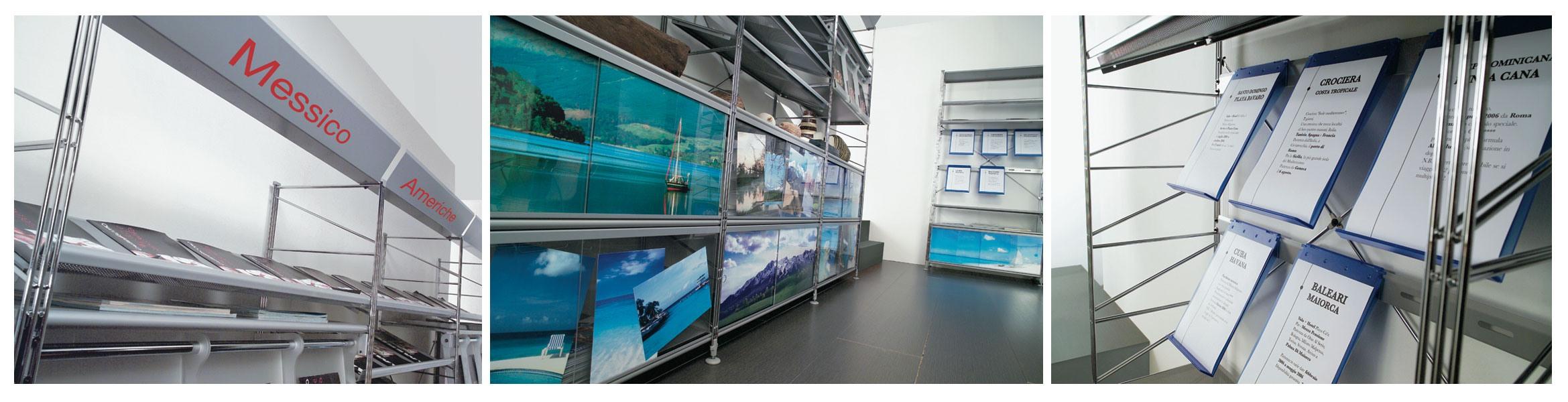 Socrate display unit, Méthacrylate de rayonnage avec structure en acier