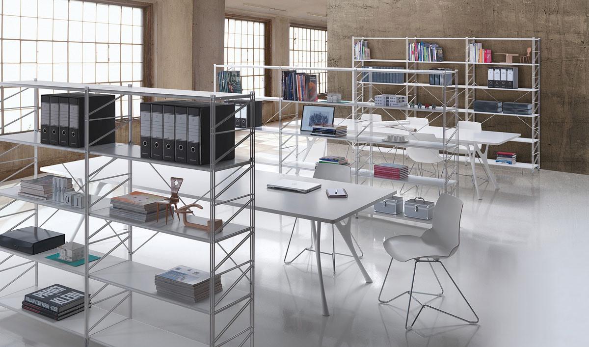 Socrate office, Rayonnage modulaire pour les bibliothèques et les magasins