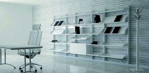 TOTEM, Mobilier modulaire exposant avec structure en métal et étagères