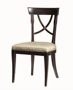 Alexie BR.0205, Chaise avec assise en tissu, sans accoudoirs