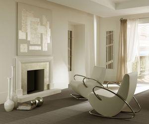 Camilla fauteuil, Métal Fauteuil à bascule moderne, rembourré en caoutchouc