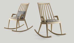 Udinì fauteuil à bascule, Chaise berçante en frêne