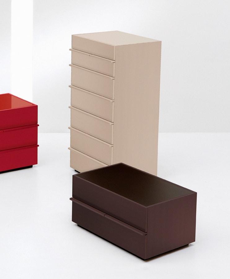 AKI commode, Unité 7 tiroirs dans la conception linéaire, par Chambre
