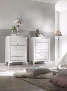 Camelia Grande commode, Unité de tiroirs hebdomadaire avec un design propre