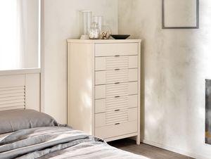 Ciro Commode 7 tiroirs, Commode 7 tiroirs en bois massif, pour les chambres