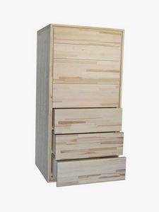 Settimino, Commode en bois à 7 tiroirs