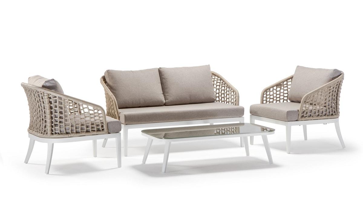 Aruba/Guadalajara, Set d'extérieur avec canapé et table d'appoint