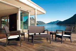 Creta Set, Mobilier d'extérieur, idéal pour bar de la plage