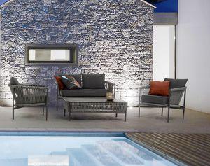 DOLOMITI, Ensemble de sièges d'extérieur hydrofuges