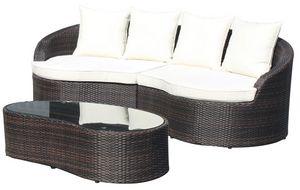 Ibiza Set, Fixé pour l'aluminium tressé externe, pour les jardins