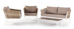 Merida, Ensemble de jardin avec fauteuils et canapé