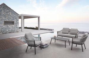 Messico Set, Ensemble d'extérieur avec fauteuils et canapé