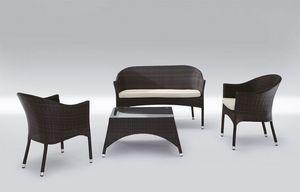 Rio Set, Siège moderne et une table pour une utilisation en extérieur Patio