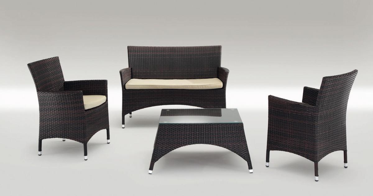 San Diego Set, Sièges modernes et une table en aluminium, pour l'extérieur