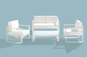 Star Set, Fixer mobilier d'extérieur, cadre en aluminium, différentes couleurs