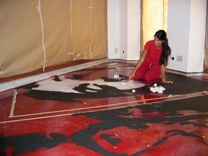 Artistic resin floors, Carreau artistique en résine, pour les restaurants originaux