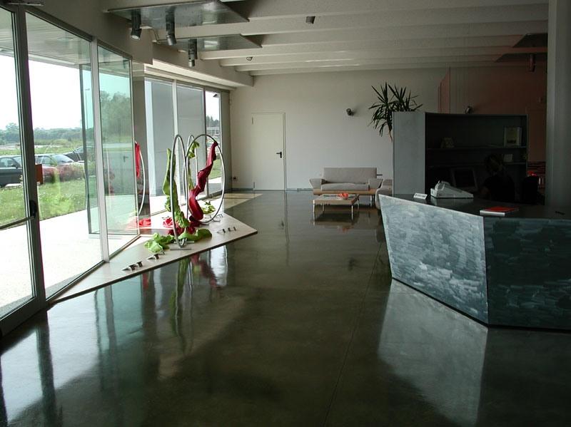 Autoleveling epoxy resin floors for stores, Sol en résine, pour des villas de luxe