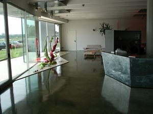 Autoleveling epoxy resin floors for stores, Sol en résine, pour des villas de luxe