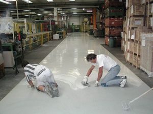 epoxy resin floors for the industry 2, Étage avec une installation rapide, facile à nettoyer, pour le magasin