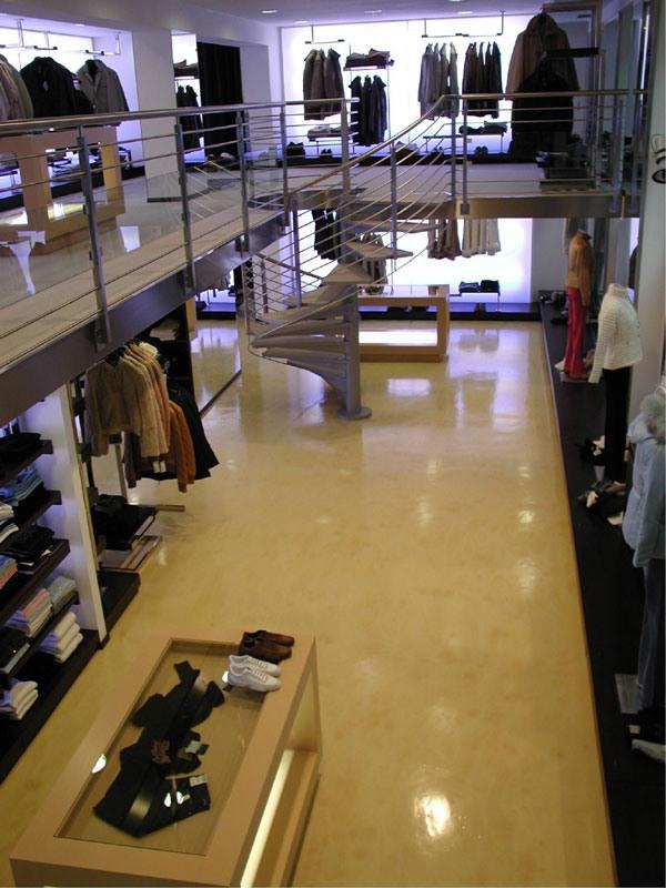 sols en résine pour boutique, Revêtements de sol en résine élégant, pour les centres commerciaux