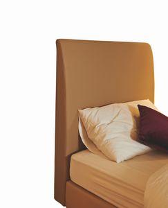 Scarlett tête de lit simple rembourrée, Tête de lit rembourrée pour lit simple d'hôtel