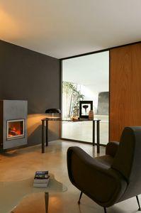 dl101 zermatt, Table avec verre de-chaussée et les jambes peintes