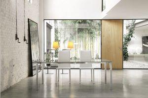 dl50 new york, Table rectangulaire avec cadre en aluminium