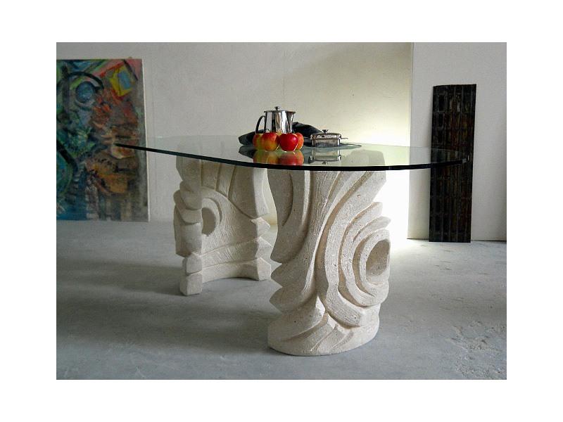 Niagara, Table de pierre ovale pour la maison ou le bureau