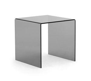 Tre-Di tavolino, Table basse en verre de bureaux ou salles d'attente