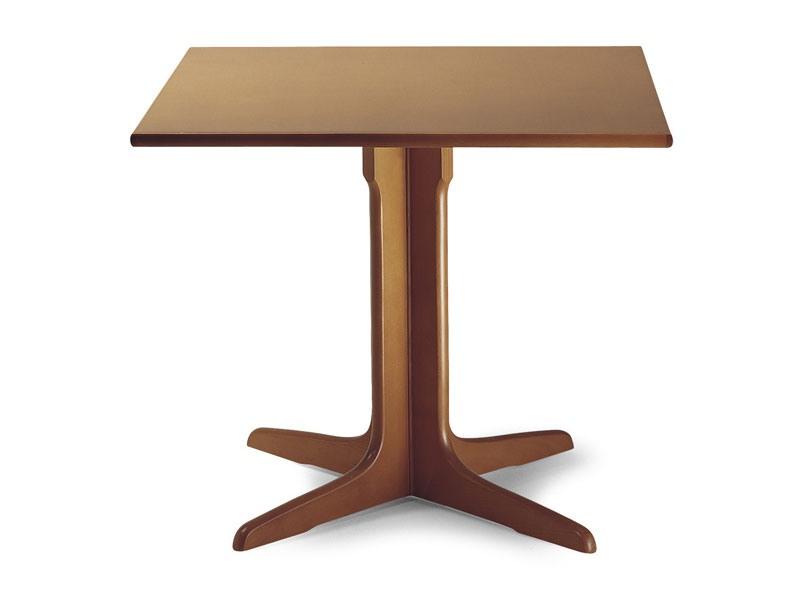 924, Table en bois avec colonne centrale
