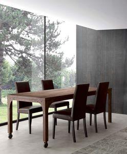 Art. 710TV Industrial Vintage Table, Table Vintage, freme en métal avec effet rouille