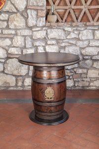 Art. CT 630, Table en forme de tonneau, de style rustique