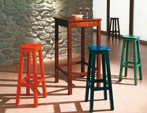 Bar-A, Table haute en pin pour les pubs rustiques