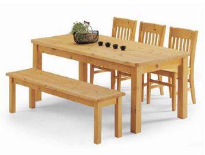 Malenco-T, Table en pin, pour un mobilier rustique