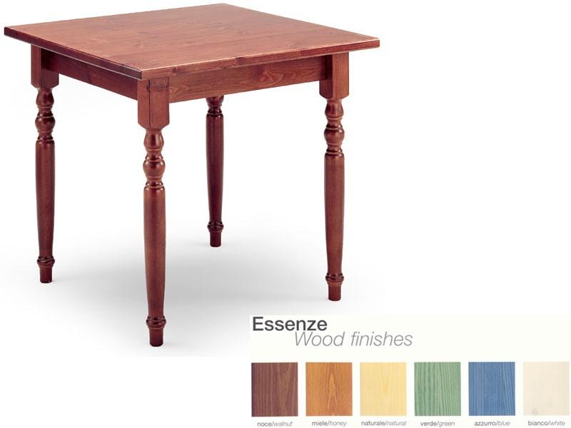 T/080G, Table carrée dans un style rustique, en bois, pour un bar à vin
