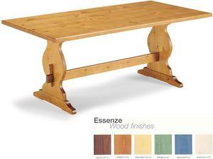 T/204, Table en bois rustique avec repose-pieds, pour les pubs