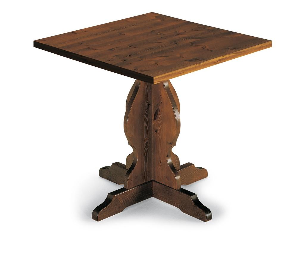 T/410, Table rustique, en bois massif, pour la cuisine